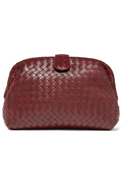 Lauren 1980 Intrecciato Leather Clutch by Bottega Veneta