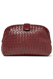 Lauren 1980 intrecciato leather clutch