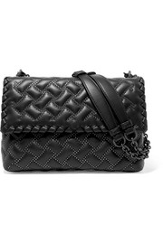 Olimpia medium studded quilted leather shoulder bag