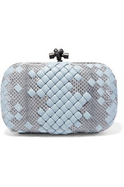 The Knot watersnake and leather clutch