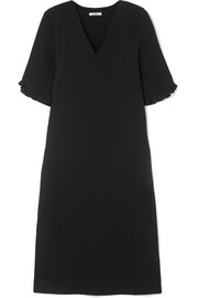 GANNI Clark ruffle-trimmed crepe midi dress
