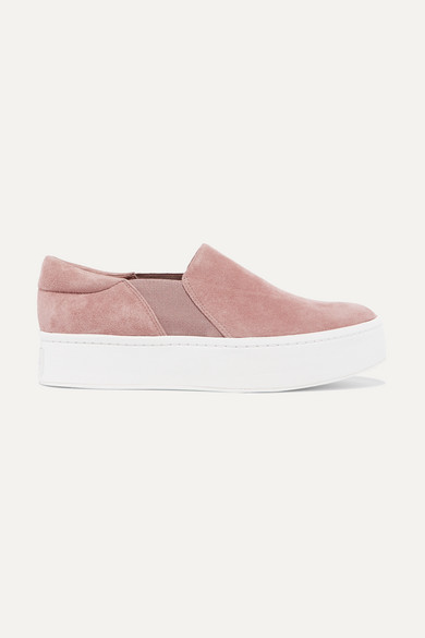 Women'S Warren Suede Platform Slip-On Sneakers in Blush