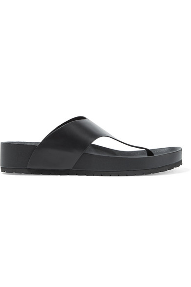 Women'S Padma Leather Thong Sandals in Black