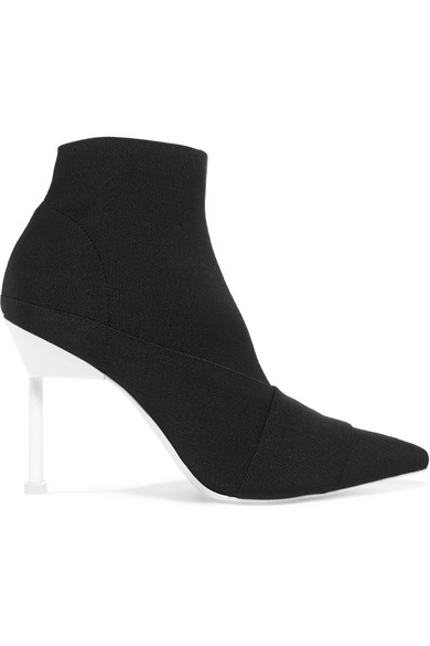 MERCEDES CASTILLO STRETCH-KNIT ANKLE BOOTS