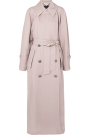 Giorgio Armani Silk-satin trench coat