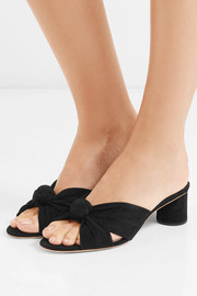 Celeste knotted suede mules