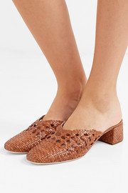 Lulu woven leather mules