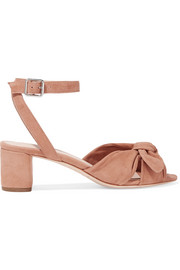 Jill bow-detailed suede sandals