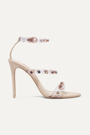Sophia Webster Rosalind crystal-embellished PVC and leather sandals