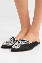 Bibi Butterfly embellished satin slippers