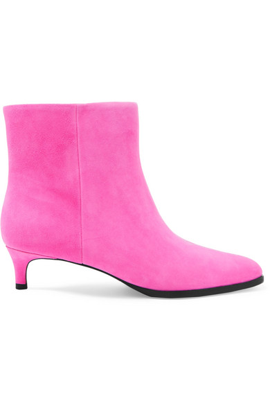 3.1 Phillip Lim - Agatha Suede Ankle Boots - Pink