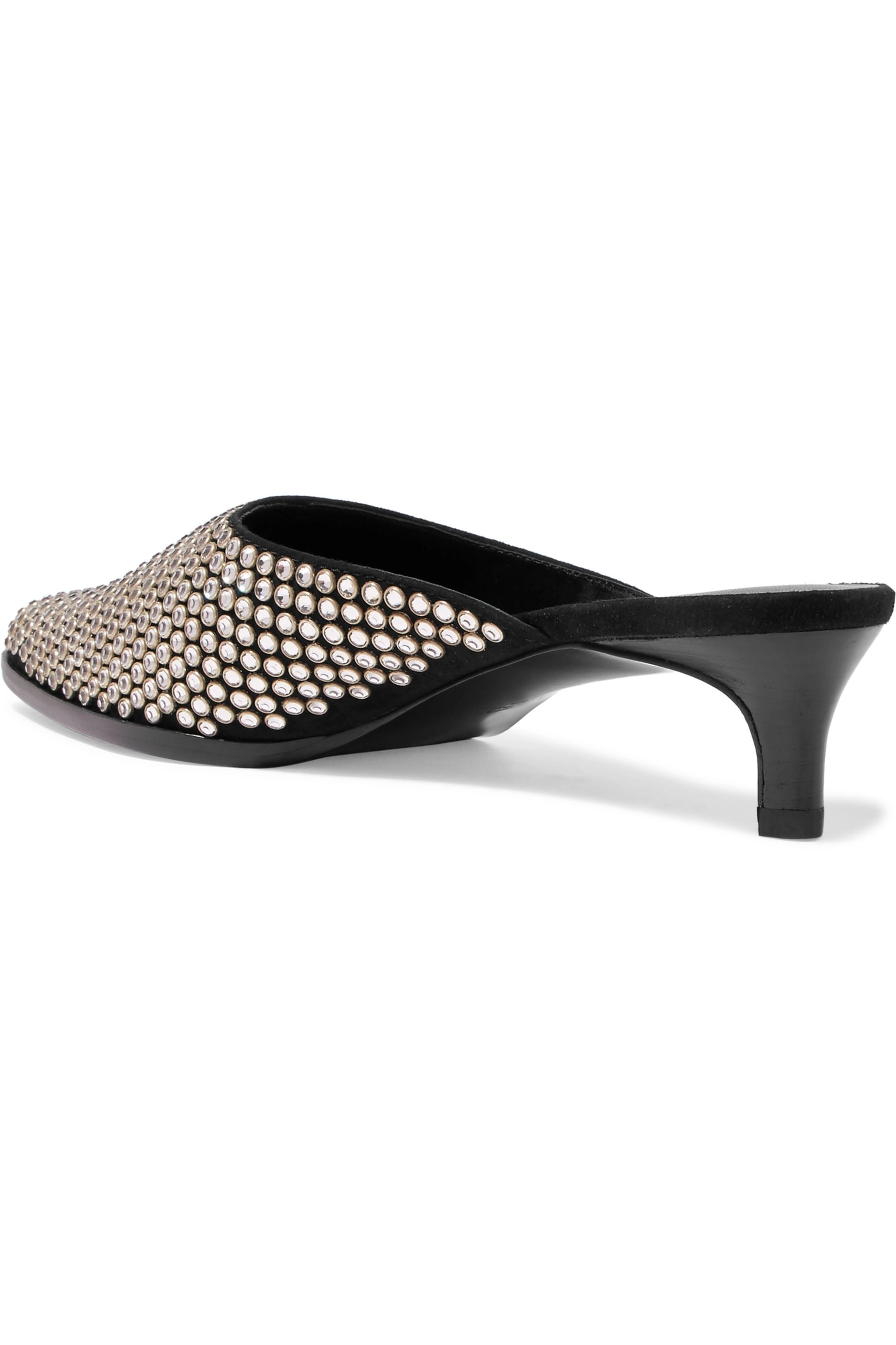3.1 Phillip Lim Agatha crystal-embellished suede mules