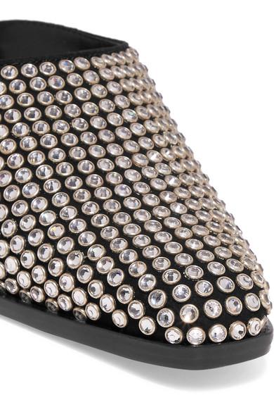 Agatha Mules aus aus Mules Veloursleder mit Kristallverzierungen e002f2