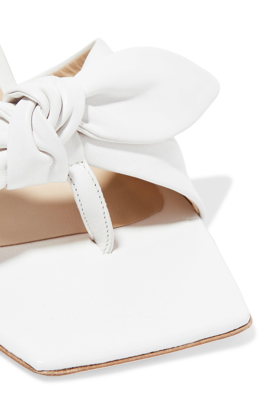 REJINA PYO Lottie bow-embellished leather mules