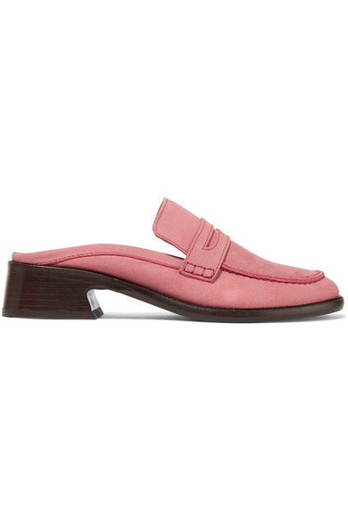 Adele Nubuck Slippers in Antique Rose