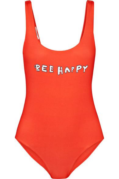 Profilic One-Piece Swimsuit, Red