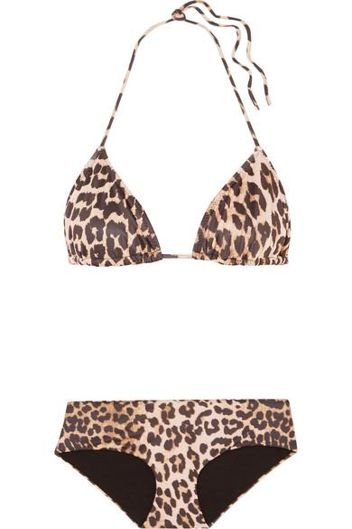 Avalon Leopard-Print Triangle Bikini