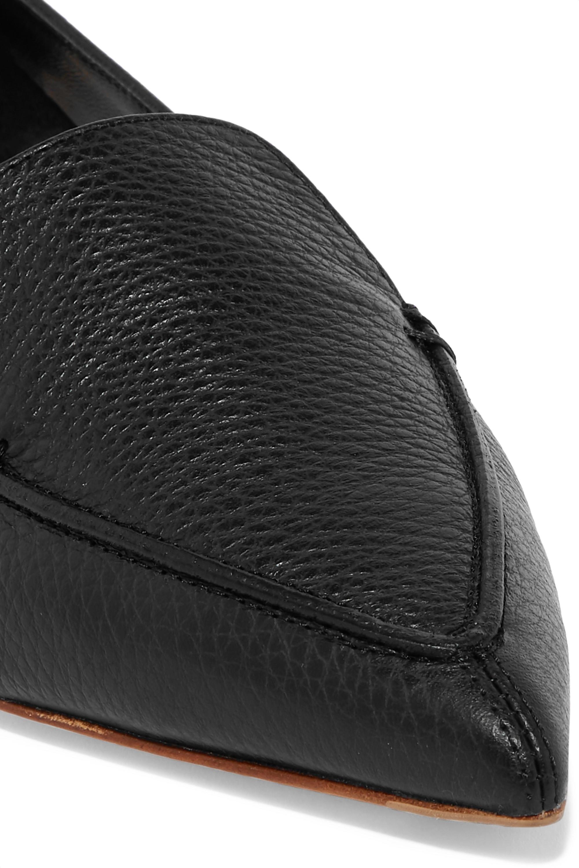 Nicholas Kirkwood Beya textured-leather point-toe flats