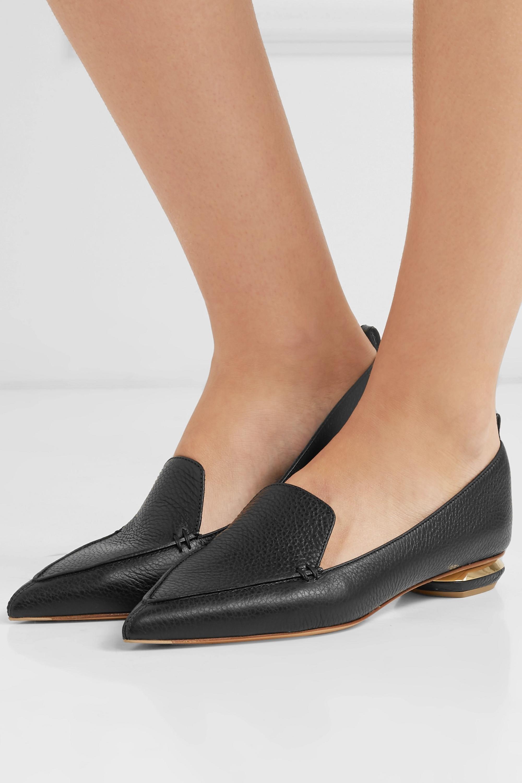 Nicholas Kirkwood Beya 纹理皮革尖头平底鞋