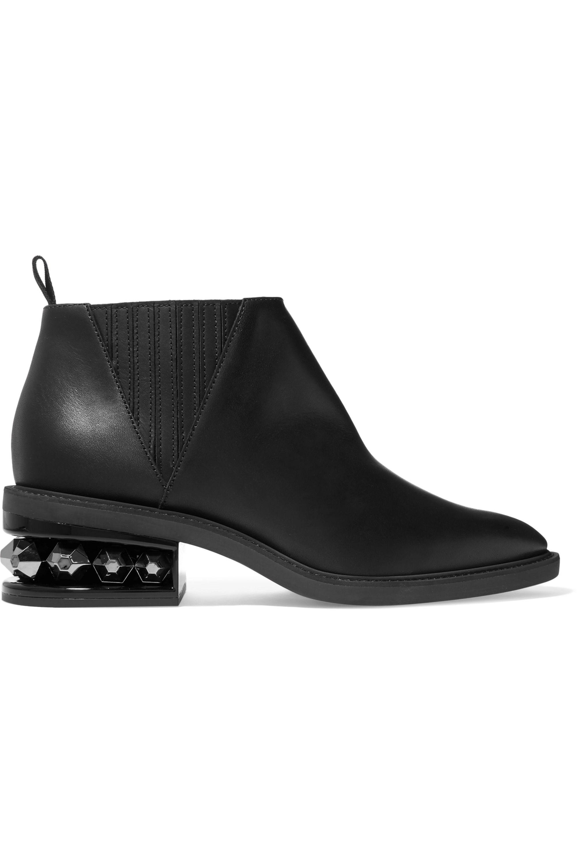 Black Suzi studded leather ankle boots
