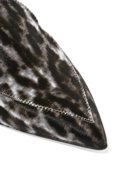 Nicholas Kirkwood | Beya Kappe flache Schuhe mit spitzer Kappe Beya aus Kalbshaar mit Leopardenprint 6d1162