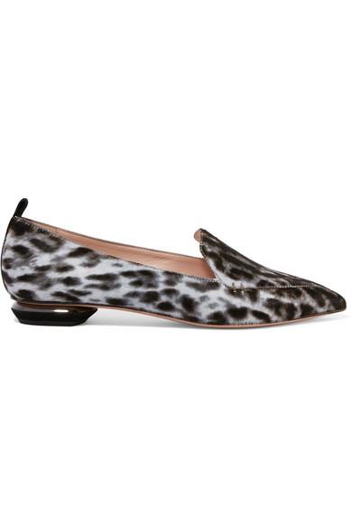 Beya Leopard-print Calf Hair Point-toe Flats - Leopard print Nicholas Kirkwood P1Zl5ysv