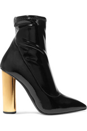 Crudelia patent-leather ankle boots