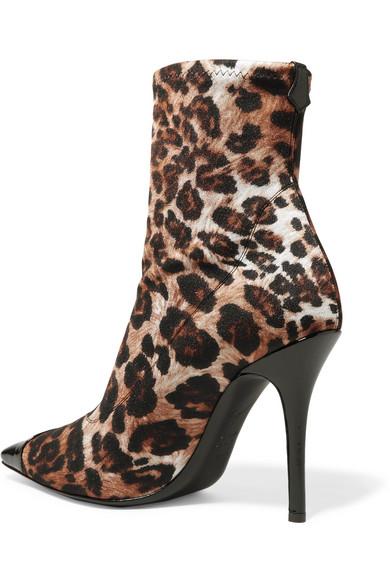 f1be422af426f Giuseppe Zanotti | Notte patent leather-trimmed leopard-print jersey ...