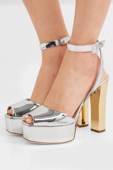 3bbd5f8e13eda Giuseppe Zanotti | Lavinia mirrored-leather platform sandals | NET-A ...