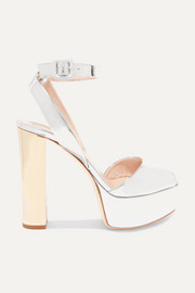 Giuseppe Zanotti Lavinia mirrored-leather platform sandals