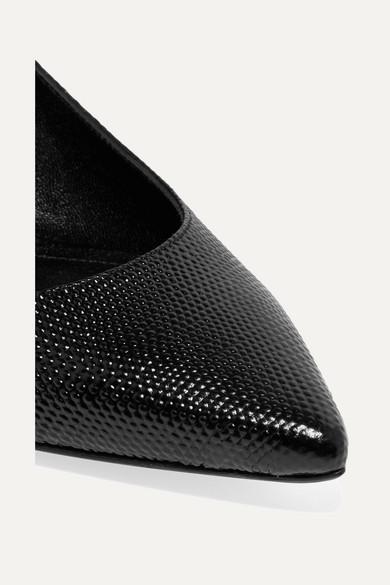 Erdem | Aerin Slingback-Pumps aus Leder geprägtem Leder aus 2083de