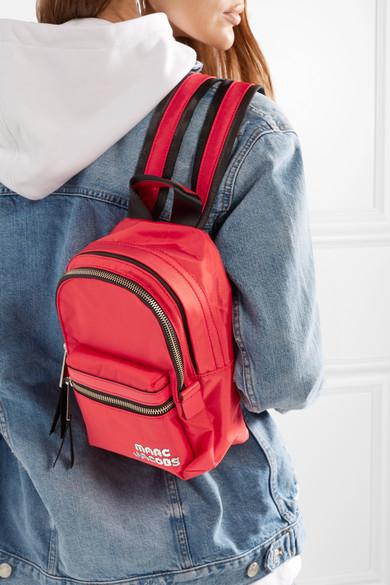 Marc Jacobs. Trek Pack medium leather-trimmed shell backpack 752f5c52b2053
