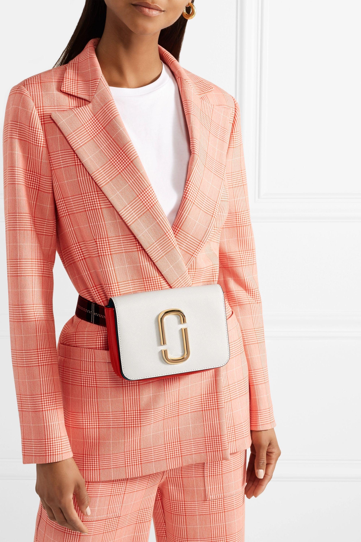 Runway Marc Jacobs The Hip Shot convertible color-block textured-leather belt bag
