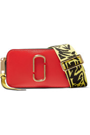 Marc Jacobs Snapshot color-block textured-leather shoulder bag