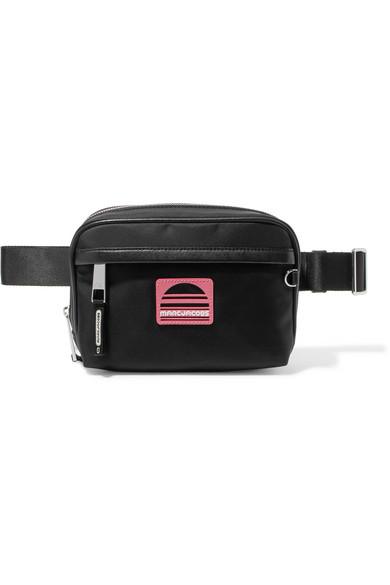 Sport Square Nylon Fanny Pack/Belt Bag, Black