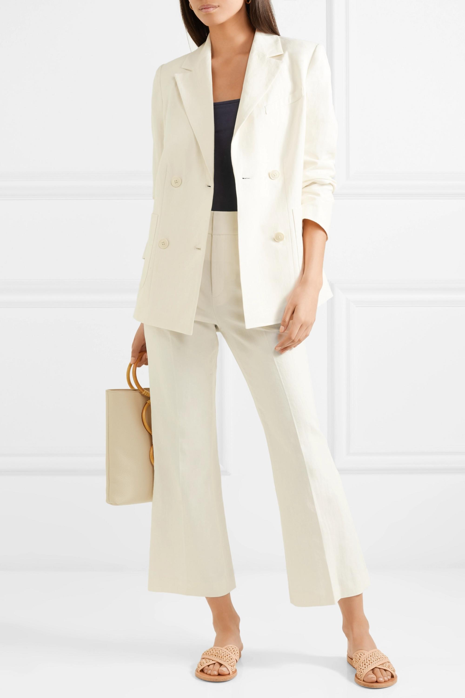 FRAME Linen-blend blazer