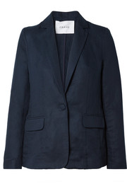 Lyocell and linen-blend blazer