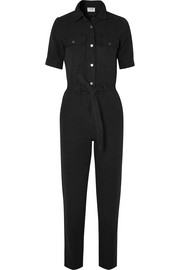 FRAME Cotton and linen-blend jumpsuit