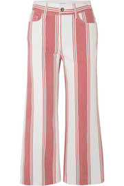 Vintage Crop striped high-rise wide-leg jeans