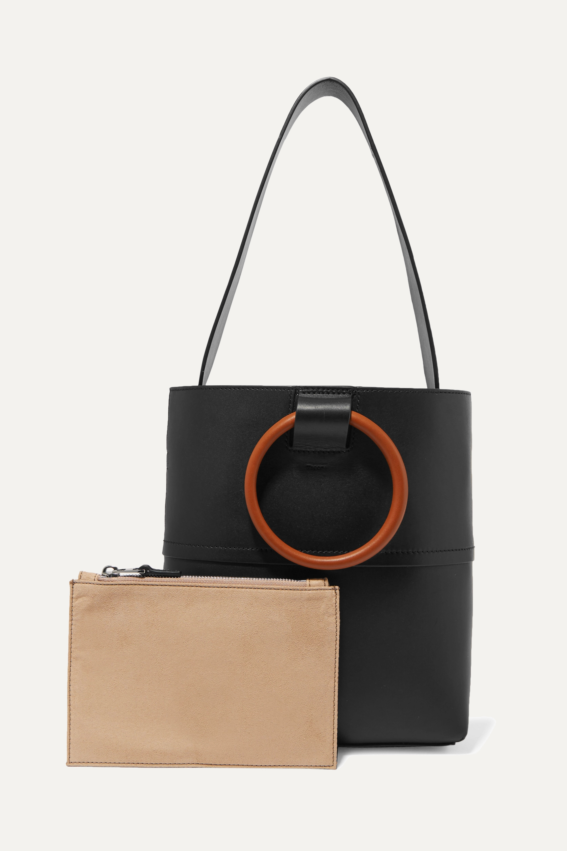 Theory Hoop mini leather tote