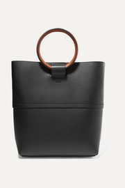 Hoop mini leather tote