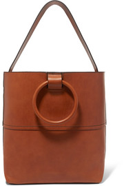 Hoop leather tote