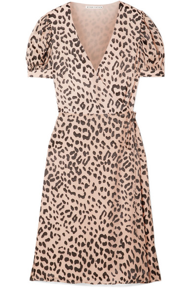 70beec035f5ae Alice + Olivia   Rosette fil coupé chiffon wrap dress   NET-A-PORTER.COM
