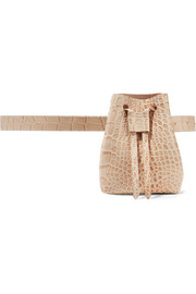 Minee croc-effect leather belt bag