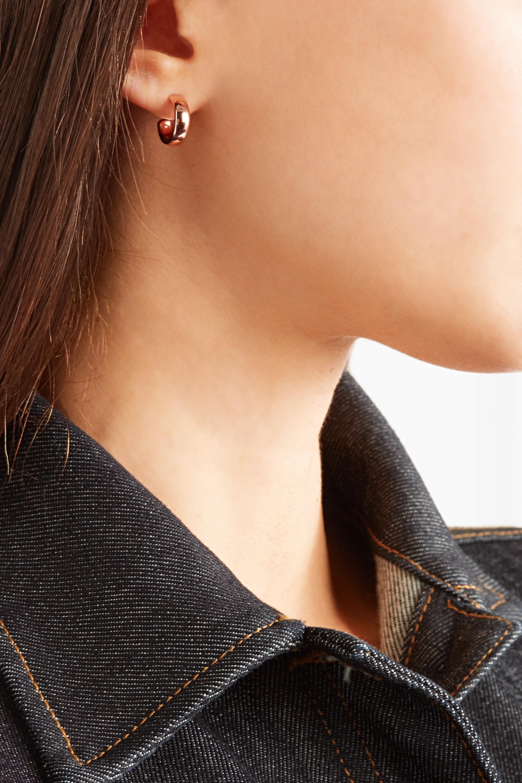 Monica Vinader Fiji rose gold vermeil hoop earrings