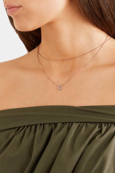 ea171c1a92dcce Monica Vinader | Riva rose gold vermeil diamond necklace | NET-A ...