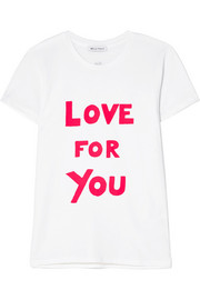 Bella Freud International Women's Day Love For You printed cotton-jersey T-shirt