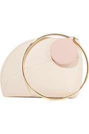 Eartha small two-tone textured-leather clutch