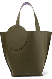 Eider two-tone textured-leather tote