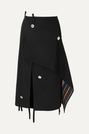 3.1 Phillip Lim Asymmetric embellished wool skirt